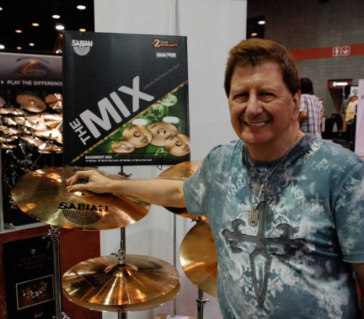 Vincent Dee playing cymbals