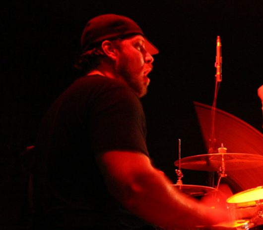 Vinnie Fiorello playing cymbals