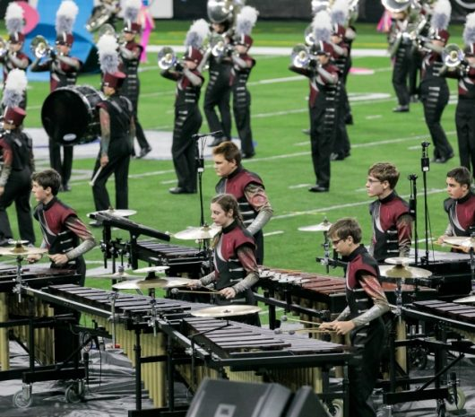 Wando High School playing cymbals