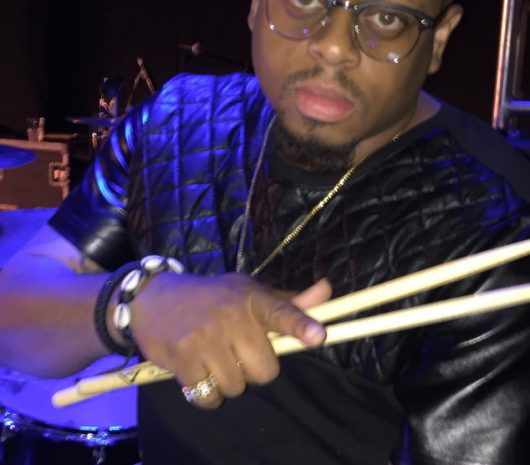 Wardell Pearson Jr. playing cymbals