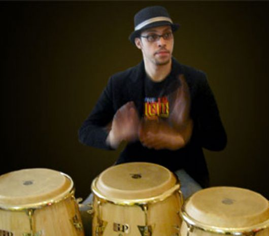 Wilson Torres playing cymbals