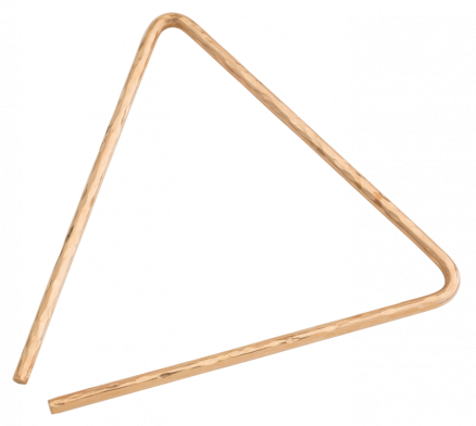 "10"" Hand Hammered B8 Bronze Triangle"