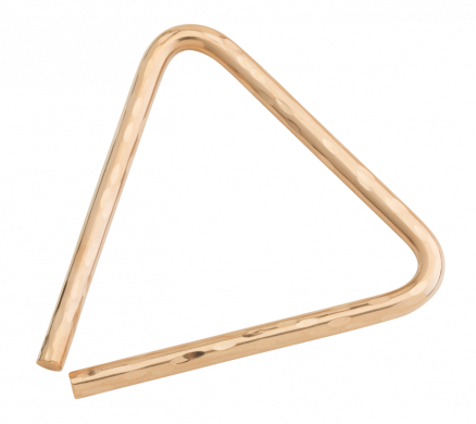 "5"" Hand Hammered B8 Bronze Triangle"