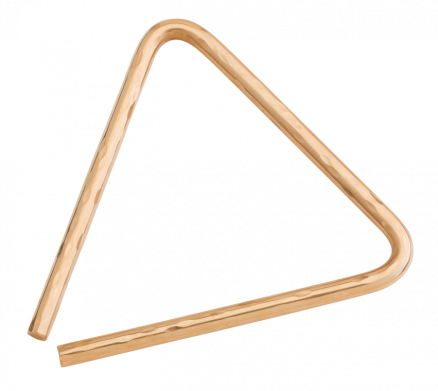 "6"" Hand Hammered B8 Bronze Triangle"