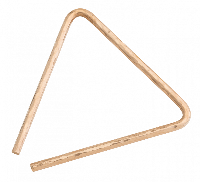 "7"" Hand Hammered B8 Bronze Triangle"
