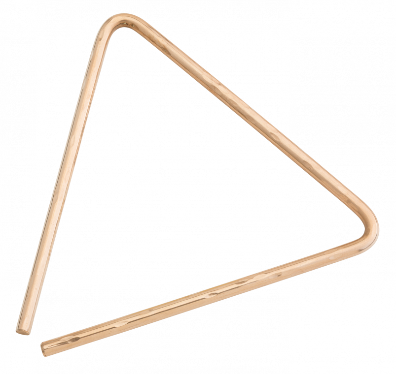 "9"" Hand Hammered B8 Bronze Triangle"
