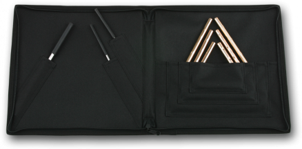 Hand Hammered Triangles & Striker Set w/Attache Case